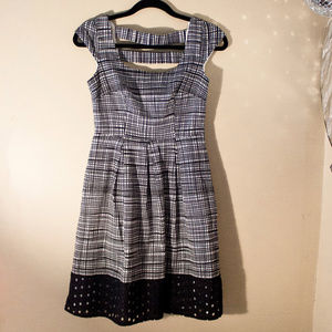 Nine West Black & White Striped Dress - Pockets!